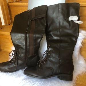 Reduced! NIB AVENUE choc brown wide calf boots